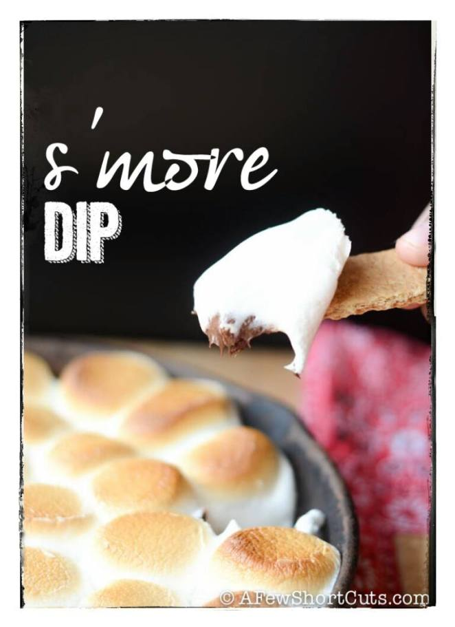 I found this super easy s'more recipe at Afewshortcuts.com. I love my cast iron skillet, and if you don't own one, I definitely recommend you buy one! | lookingjoligood.woordpress.com