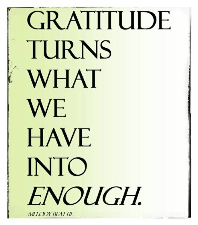 Gratitude turns what we have into enough | lookingjoligood.woordpress.com