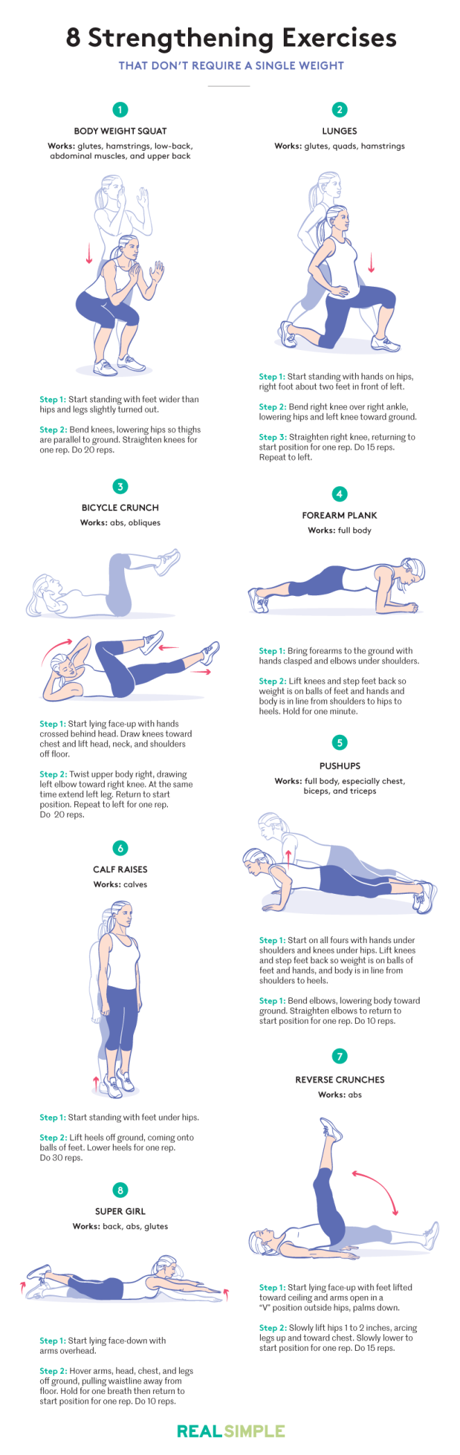 Body weight exercises | lookingjoligood.wordpress.com