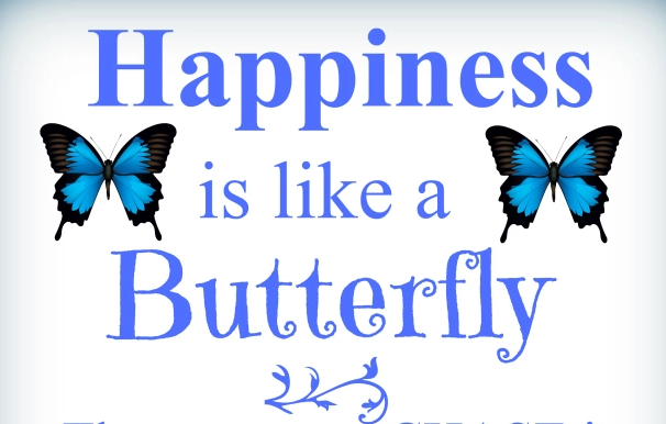 Happiness is like a butterfly | lookingjoligood.wordpress.com
