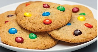 M&M's chocolate chip cookies | lookingjoligood.wordpress.com