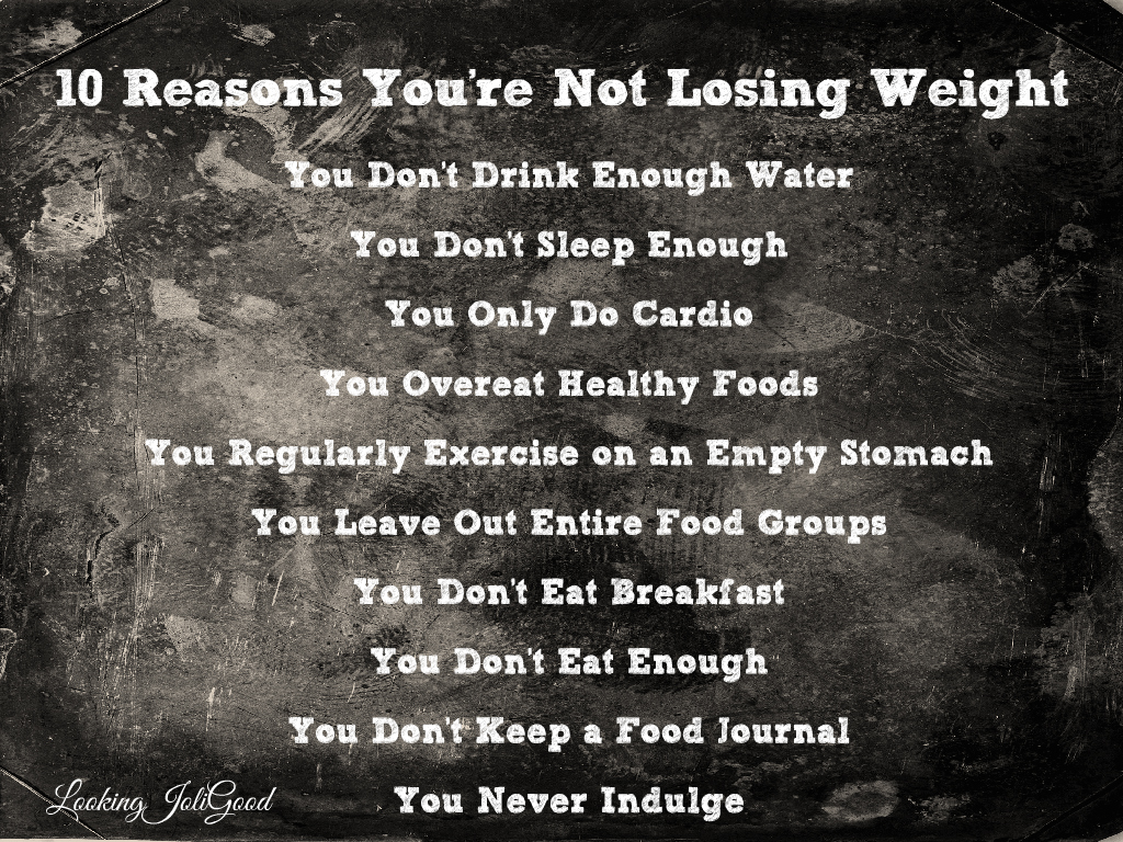 eating better and exercising but not losing weight