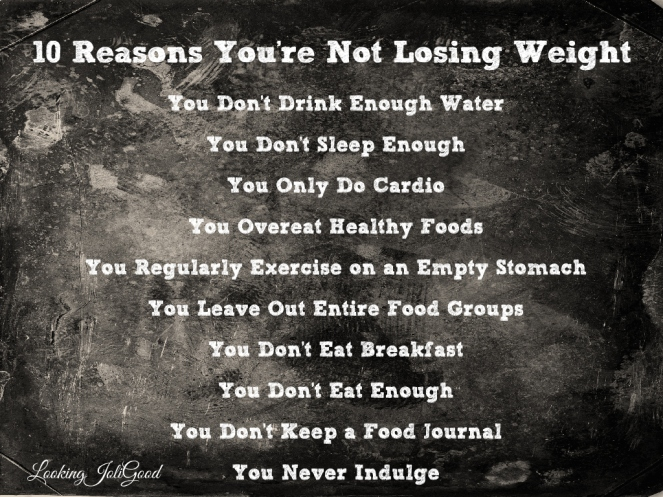10 reasons you are not losing weight | lookingjoligood.wordpress.com