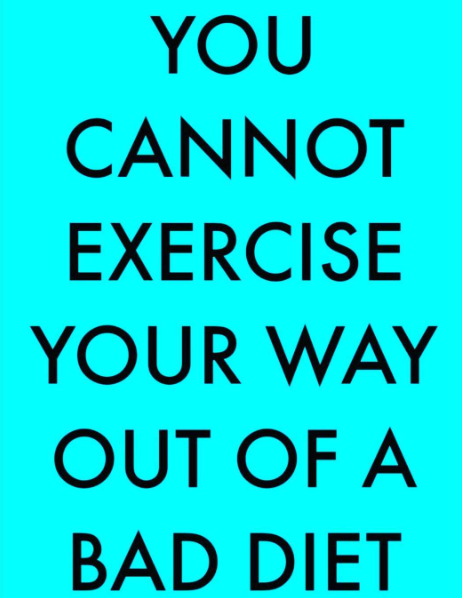 out exercise a bad diet | lookingjoligood.wordpress.com