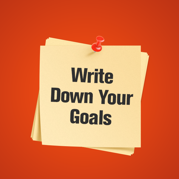 write down your goals | lookingjoligood.wordpress.com