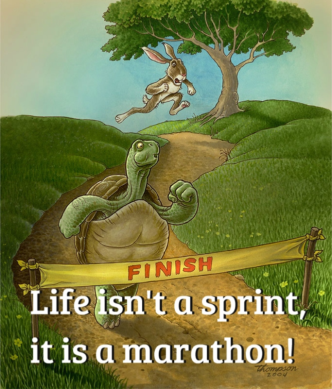 Life isn't a sprint it is a marathon | lookingjoligood.blog
