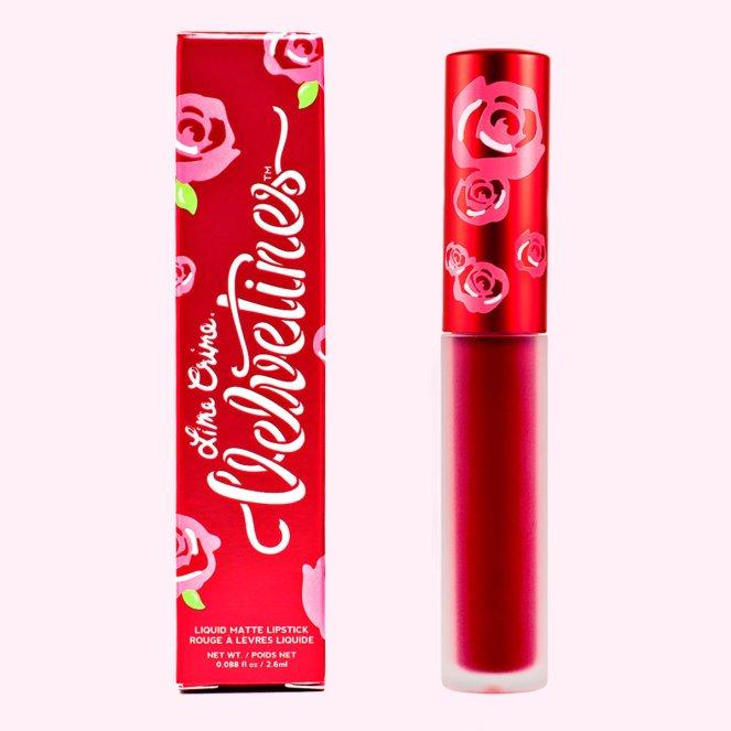 Lime Crime Velvetine in red rose | lookingjoligood.blog