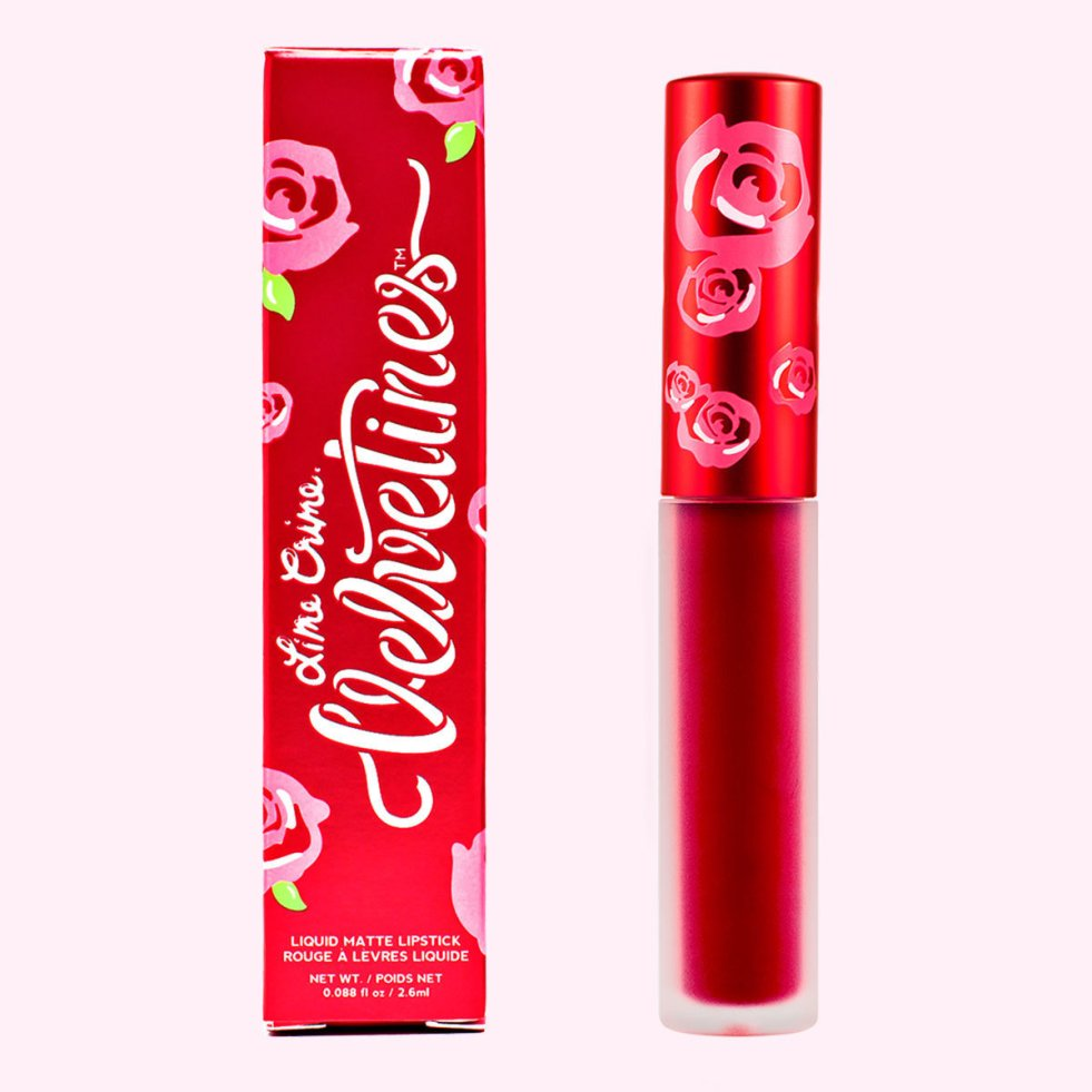 Lime Crime Velvetine in red rose | lookingjoligood.blog