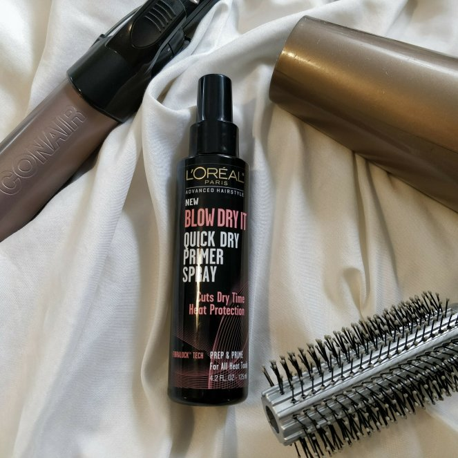 Loreal Blow Dry It Quick Dry Primer Spray | Lookingjoligood.blog