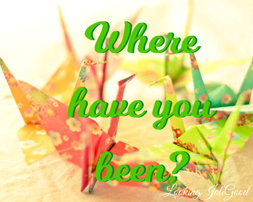 Where have you been? | lookingjoligood.blog